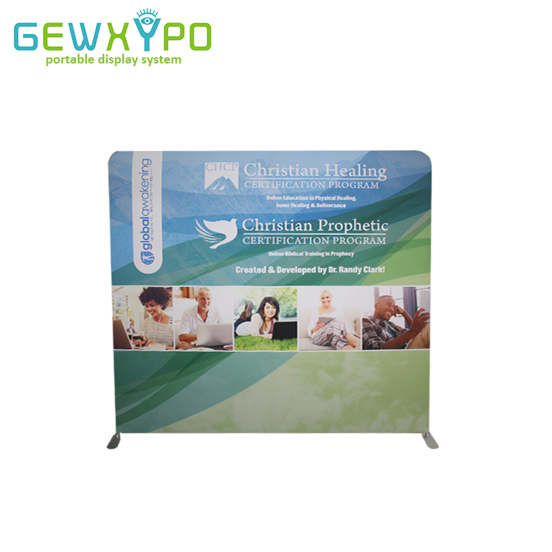 8ft*7.5ft Trade Show Straight Backwall Display,Portable Tension Fabric Banner Exhibition Stand With Full Color Graphic Printing(China)