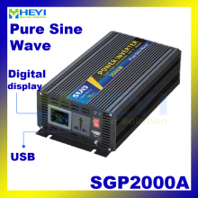 New Smart Series Pure Sine Wave Inverter 2000W with USB input 12VDC 24VDC 48VDC output 110VAC 220VAC solar grid tie inverter