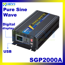 New Smart Series Pure Sine Wave Inverter 2000W with USB input 12VDC 24VDC 48VDC output 110VAC 220VAC solar grid tie inverter(China)