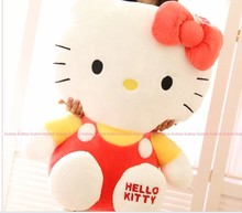 stuffed animal lovely cat plush toy about 42cm red hello kitty doll 16 inch toy k8543(China)