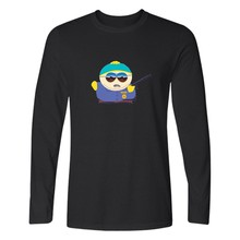 USA Cartoon South Park Long Sleeve T Shirt Men Autumn Fashion Tshirts Cotton Men Casual Black Tee Shirt Men Funny High Quality(China)