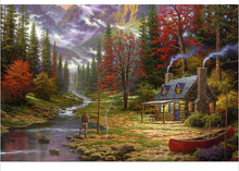 The Good Life by Thomas Kinkade Canvas Prints Realistic Painting Printed On Canvas 12 by 16 inch, 12 by 18 inch, 16 by 20 inch(China)