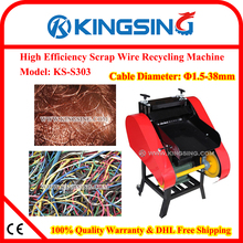 Direct Manufacturer Selling Scrap Wire/Cable Stripping Machine, Scrap Wire/Cable Recycling Machine KS-S303+ DHL Free Shipping