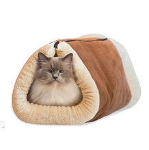 Autumn Winter Double Used Cat Tunnel Soft Warm Mat Sheep Fur Flannel Cat Soft Bed(China)