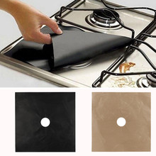 1PCS Reusable Gas Range Stove Top Burner Protector Liner Cover For Cleaning Bakes food light crispy Non-stick  27X27cm