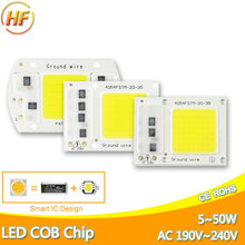DIY High Lumen No Need Driver Integrated COB LED Chip 220V 50W 30W 20W 10W 5W Smart IC Replace Flood Light Lamp Bulb