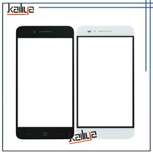 New Touch Screen For ZTE Voyage 4 Blade A610 5.0 inch Black White Front Glass Lens Sensor Replacement Without Flax Cable(China)