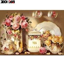Zooya 5D DIY алмаз вышивка Кухня цветок алмазов картина вышивки крестом полный квадрат горный хрусталь мозаичный Декор для дома подарок ZX(China)