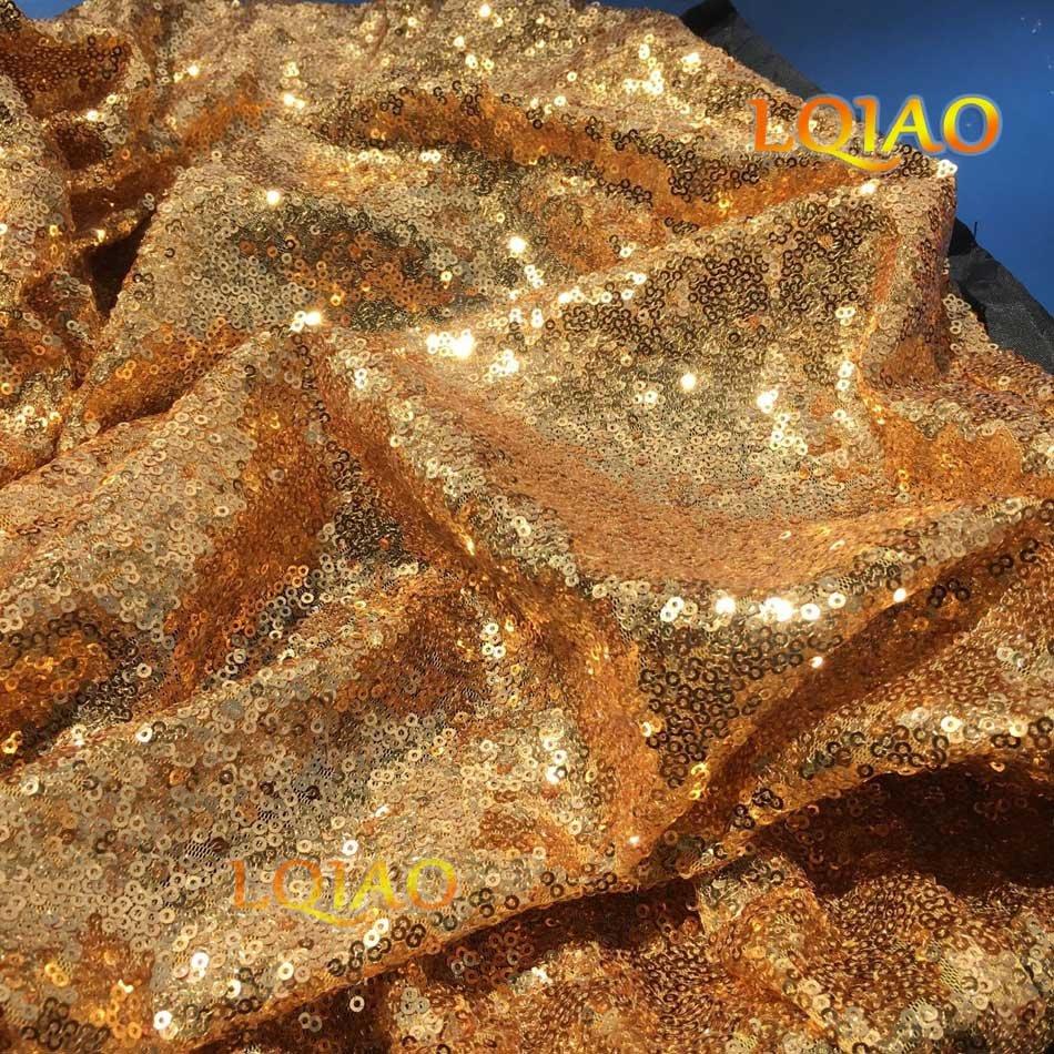 gold sequin fabric-012