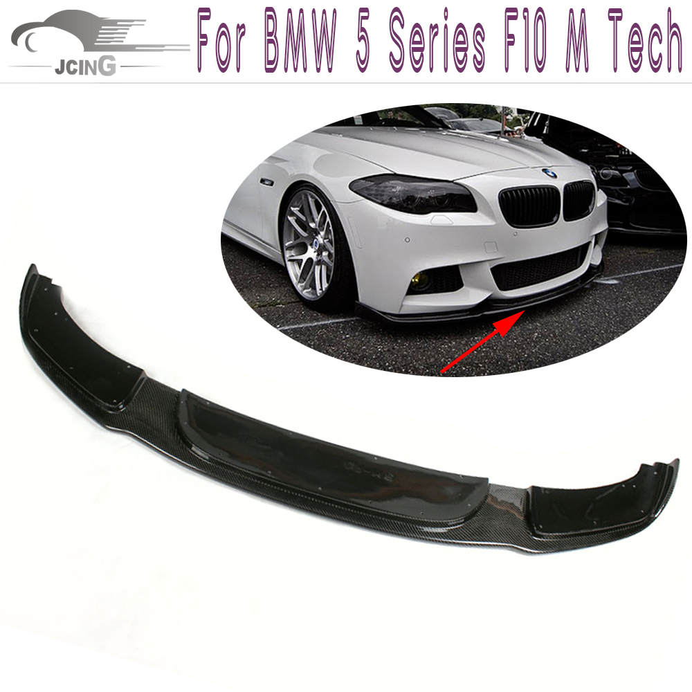 H Style Carbon Fiber Front Lip Apron Fit BMW 5Series F10 M Tech Bumper 11-13