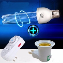 Household disinfection UV lamp, ultraviolet disinfection lamp, with E27 socket and Timing switch(China)