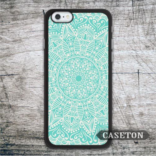 Pastel Mint Blue Floral Mandala font b Case b font For iPod 5 and For font