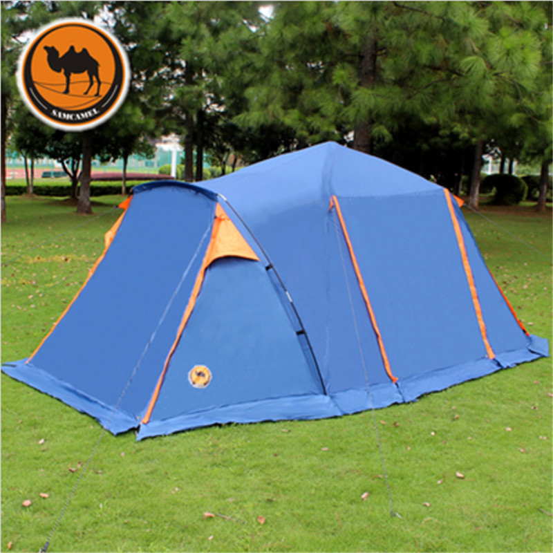 Camel-Outdoor-Tent-3-4-People-Double-Anti-rain-Waterproof-Camping-tent-with-Skirt-4-doors (2)