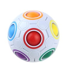Novelty Rainbow Football Puzzle Spherical Magic Cube Toys Learning & Educational Toys For Children good gift Adult(China)