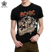 Punk Youth New Camisetas AC/DC Band Rock T Shirt Mens Acdc Graphic T-Shirts Print Casual T Shirt O Neck Hip Hop Short Sleeve