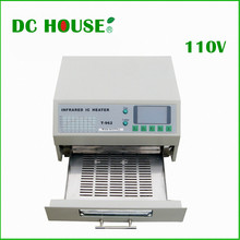 DC HOUSE CN USA EU Stock 110V T962 Digital Auto Infrared IC Heater Reflow Oven SMD Solder BGA 180*235mm 800W(China)