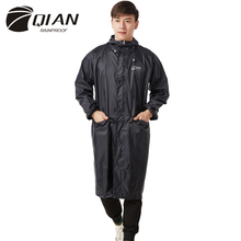 QIAN RAINPROOF Impermeable Long Style Raincoat Adults Waterproof Trench Coat Poncho Rain Coat Female Rainwear Rain Gear Poncho(China)