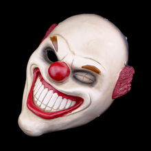 Free Shipping Game Payday 2 Resin Red Nose Clown Mask Replica Masquerade Cosplay Props Fancy Dress Costume(China)