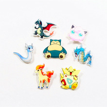 Free shipping 5pcs lovely mix acrylic Pokemon Accessories Fashion cartoon Brooch Badge Pin Collar brooch Jewelry Gift,Pet,q10