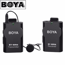 BOYA BY-WM4 Wireless Lavalier Microphone system for Canon Nikon Sony Panasonic DSLR Camera Camcorder iphone android smartphone(China)