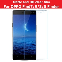 Matte Film For OPPO Find7 X9007 Finder X907 Find9 X9009 Find3 X905 Find5 X909 HD Clear Glossy Film For OPPO Find 3 5 7 9 +cloth