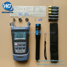 2 In 1 FTTH Fiber Optic Tool Kit King-60S Optical Power Meter -50 to +20dBm and 1mW Visual Fault Locator Fiber optic test pen