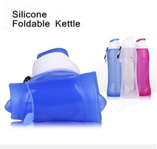 500ml Silicone Folding Kettle Outdoor Sport Portable Water Bottle Multifunctional Magic Bottle Shaker Foldable(China)