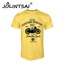 100% Cotton Tee Shirt Short Sleeve Men's T-shirt Motorcycle Print Casual Men T-shirts Custom Special Print T Shirt Men 7 Colors(China)