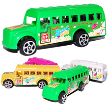 4 PCS Random Color Diecast Model Cars Toys Pull Back Car Transformation Vehicle School Bus Kids Toys For Children's Gifts