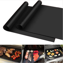 40 * 30cm Reuseable Non-stick BBQ Grill Mat Sheet Barbecue Pad Baking Liners Nonstick Cooking Microwave Oven Pad Cooking Tool