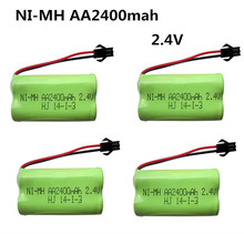 4pcs 2.4V 2400mah AA ni-mh battery rechargeable battery power tools battery remote control electric toys(China)