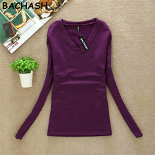 BACHASH New 2017 Fashion Export Brand Women Cashmere Sweater Solid Long Sleeve Slim Women Knitted Wool Sweater Pullovers Spring(China)