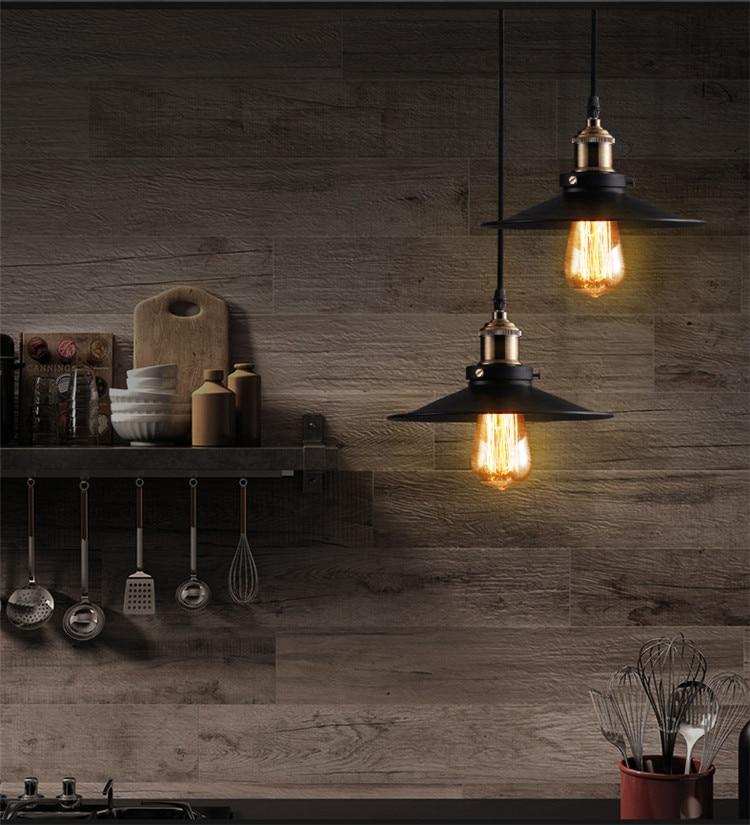 Loft metal pendant lamp Loft Northern Europe american vintage for Restaurant/Bedroom Home Decoration Black with Edison bulb<br><br>Aliexpress