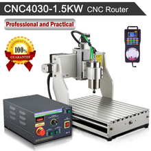 1500W Router Engraver Machine Water-cooled Spindle Motor 4030 Mach3 Controller + Wireless Pendant Handy Pulser CNC Kit(China)