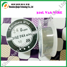Newest Stainless steel 316L wire for Electronic cigarettes  atomizer coils 24ga 10m/roll free shipping