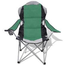 iKayaa Set of 2 Folding chairs with green bag Camping Open Air Outdoor Chairs FR Stock