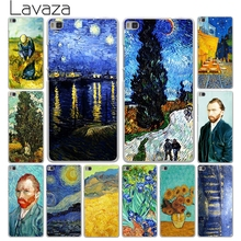 Lavaza Vincent Willem van Gogh Tardis Hard White Cover Case for Huawei P10 P9 P8 Lite Plus P7 P6 & Honor 6 7 8 Lite 4C 4X G7(China)