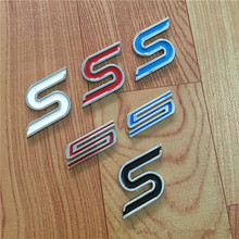 5X New Metal S Chrome Car Badge Rear Trunk Car Stickers Car Styling For FORD Focus 2 3 Fiesta Ecosport Mondeo(China)