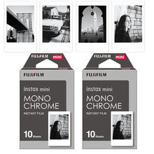 Genuine Fujifilm Fuji Instax Mini Film Monochrome Mono Film 20 pcs for Mini 8 70 8 Plus 90 25 Camera SP-1 SP-2(Hong Kong)