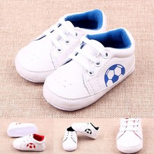 PU Newborn Baby Boy Girl Football Fashion Baby Casual Shoes Baby Toddler Shoes Non-Slip Sapatos De Bebe First Walkers