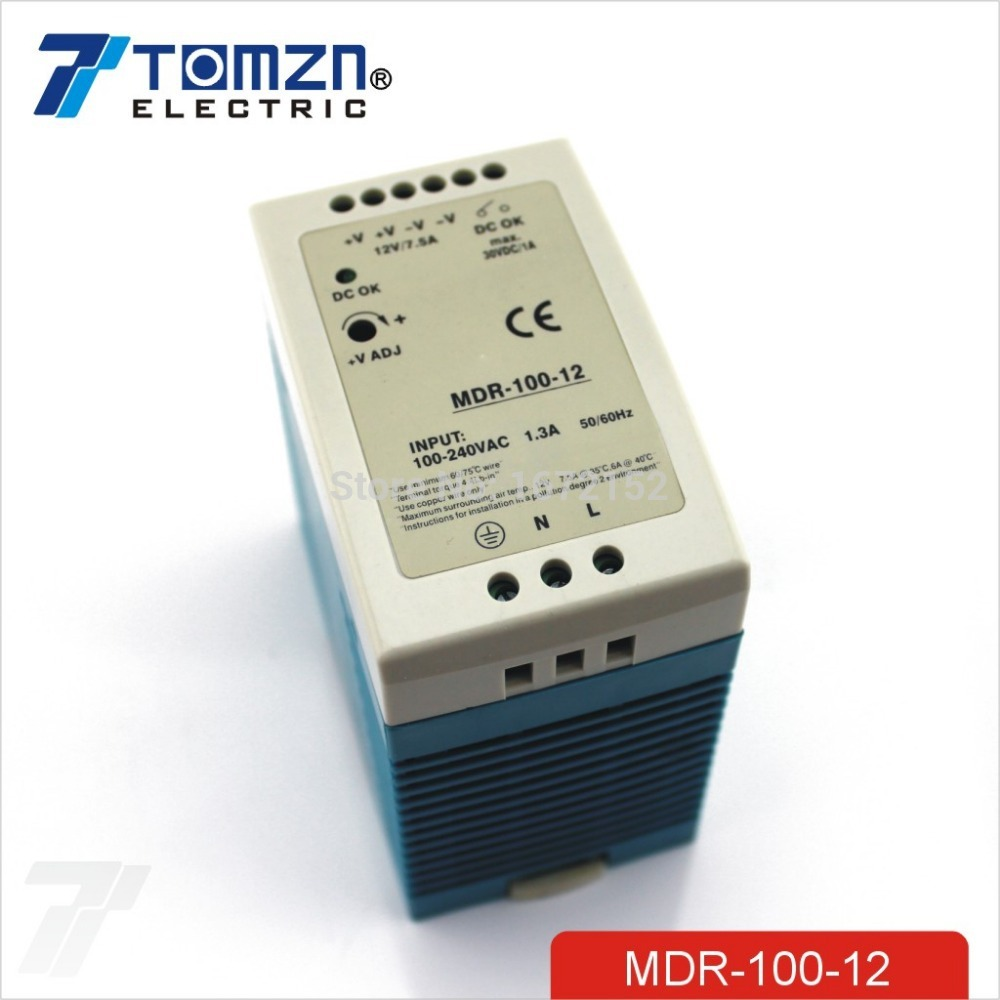 100W 12V 7.5A MINI Din Rail Single Output Switching power supply<br>