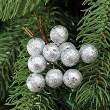 10pcs Mini Christmas Tree Shiny Fruit Ball Decoration Ornament Gold Silver Red Decor For Home and Party Supplies