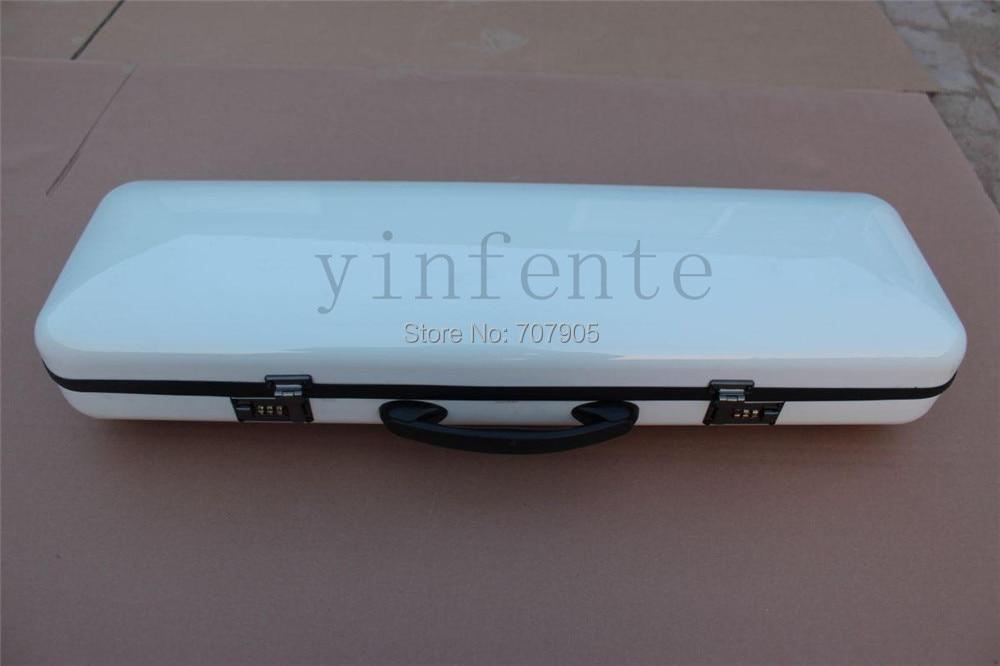 white   color    4/4 Violin case Glass Fiber Soft Imitate Leather Pink White Black #GF27<br><br>Aliexpress
