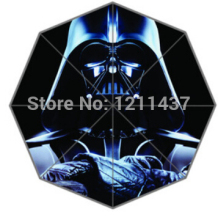 Custom Novelty Item Star Wars 43.5 inch 3 Foldable Umbrellas Good Gift For Birthday Friend