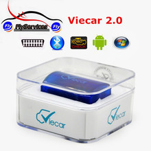Strong Function Super MINI Viecar 2.0 ELM327 Bluetooth ELM 327 OBD2 Diagnositc Scanner Tool For Android System PC