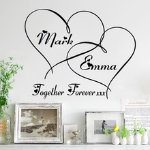 % love together forever heart wall sticker vinyl wedding room bedroom living room home decoration valentine's day gift
