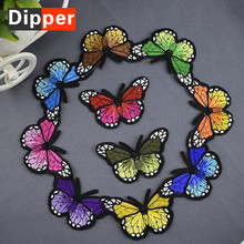 T-11 Delicate butterfly embroidery cloth paste gum decals are embroidered patch embroidered full hole filling paste