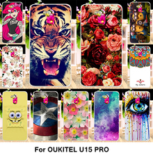 TAOYUNXI Silicone Phone Cover Case For Oukitel U15 Pro 5.5 inch Cover Fundas Soft TPU Case Flowers Rose Cat Housing Shell Bag