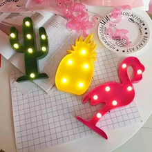 5pcs Big Tropic Wedding Idea Pink Flamingo Pineapple Cactus Led Lights Wedding Engagement Decoration Hawaii Beach Wedding Party