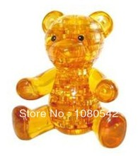 DIY teddy bear 3D Crystal Puzzle Educational funny hot toys for girls(China)